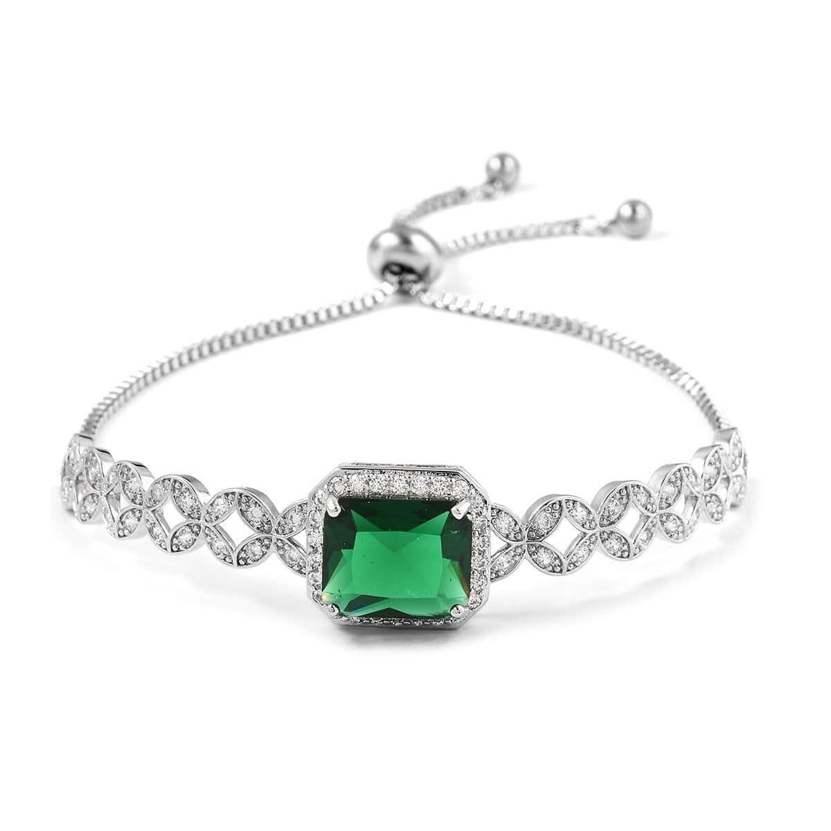 12-Color-Options-Cubic-Zirconia-Bracelet-Chain-Pendant-Necklace-Set-Adjustable thumbnail 29