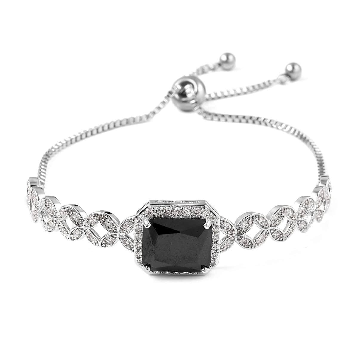12-Color-Options-Cubic-Zirconia-Bracelet-Chain-Pendant-Necklace-Set-Adjustable thumbnail 11