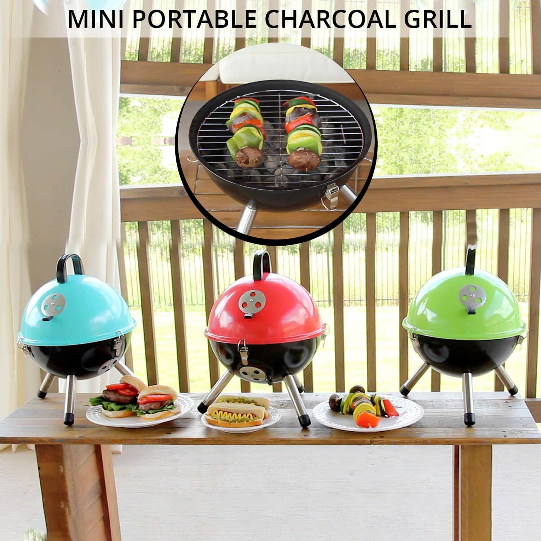 thumbnail 14 - Outdoor Backyard Cooking Mini Portable Charcoal BBQ Grill Bottom Storage