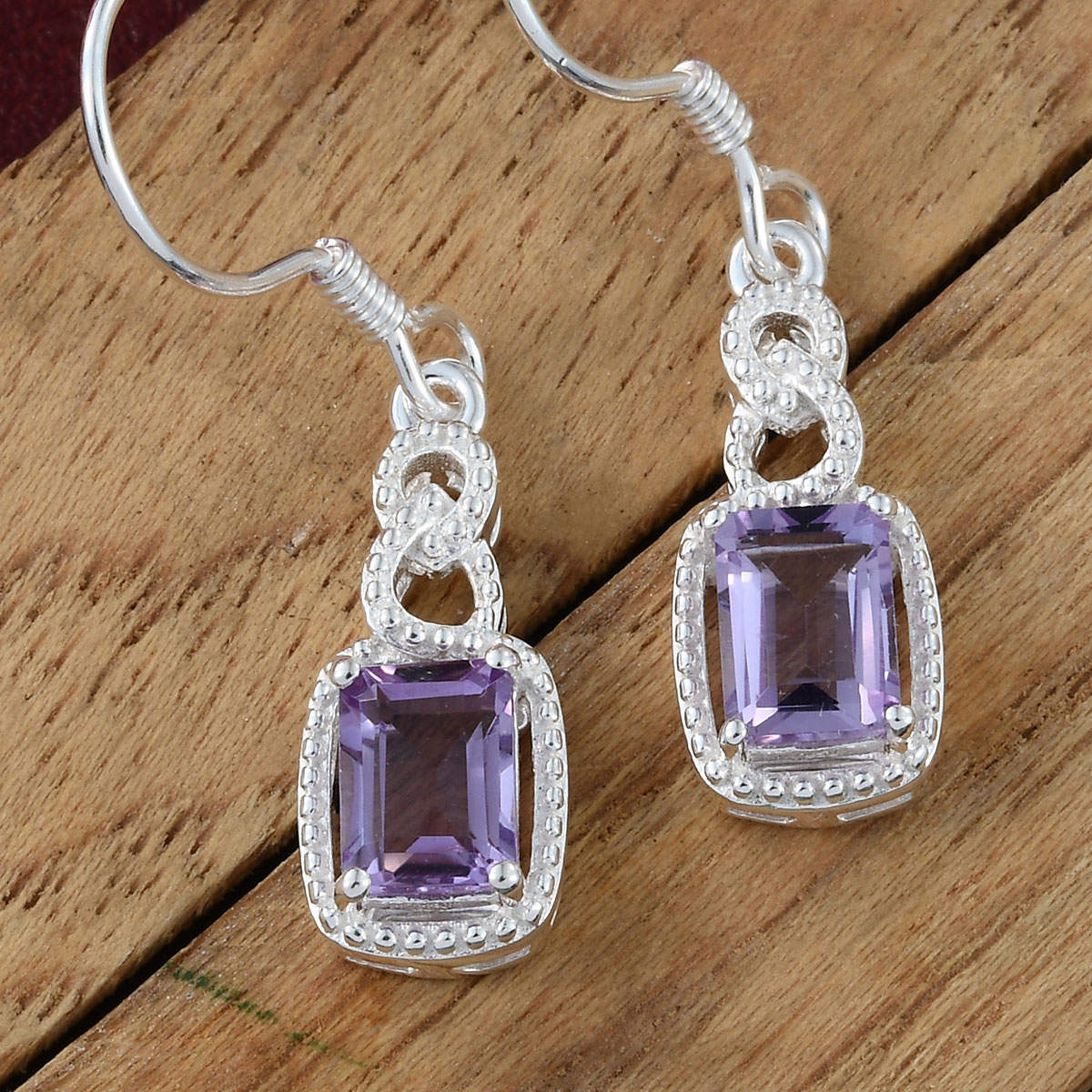 Amethyst-Garnet-Topaz-925-Sterling-Silver-Dangle-Drop-Earrings-for-Women-Jewelry thumbnail 19