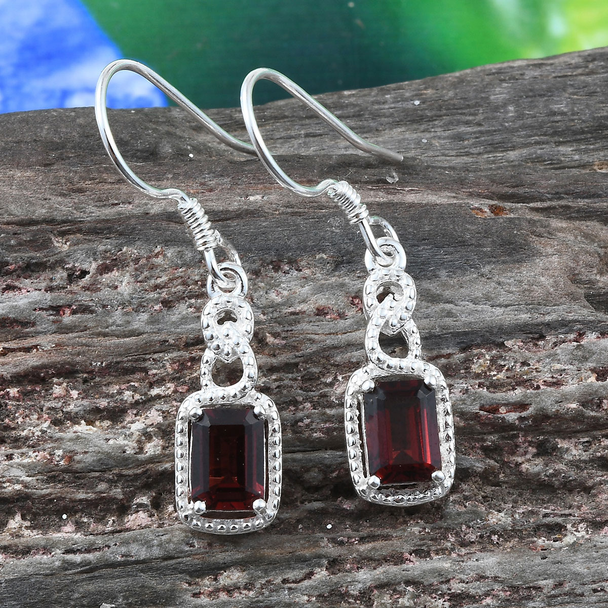 Amethyst-Garnet-Topaz-925-Sterling-Silver-Dangle-Drop-Earrings-for-Women-Jewelry thumbnail 11