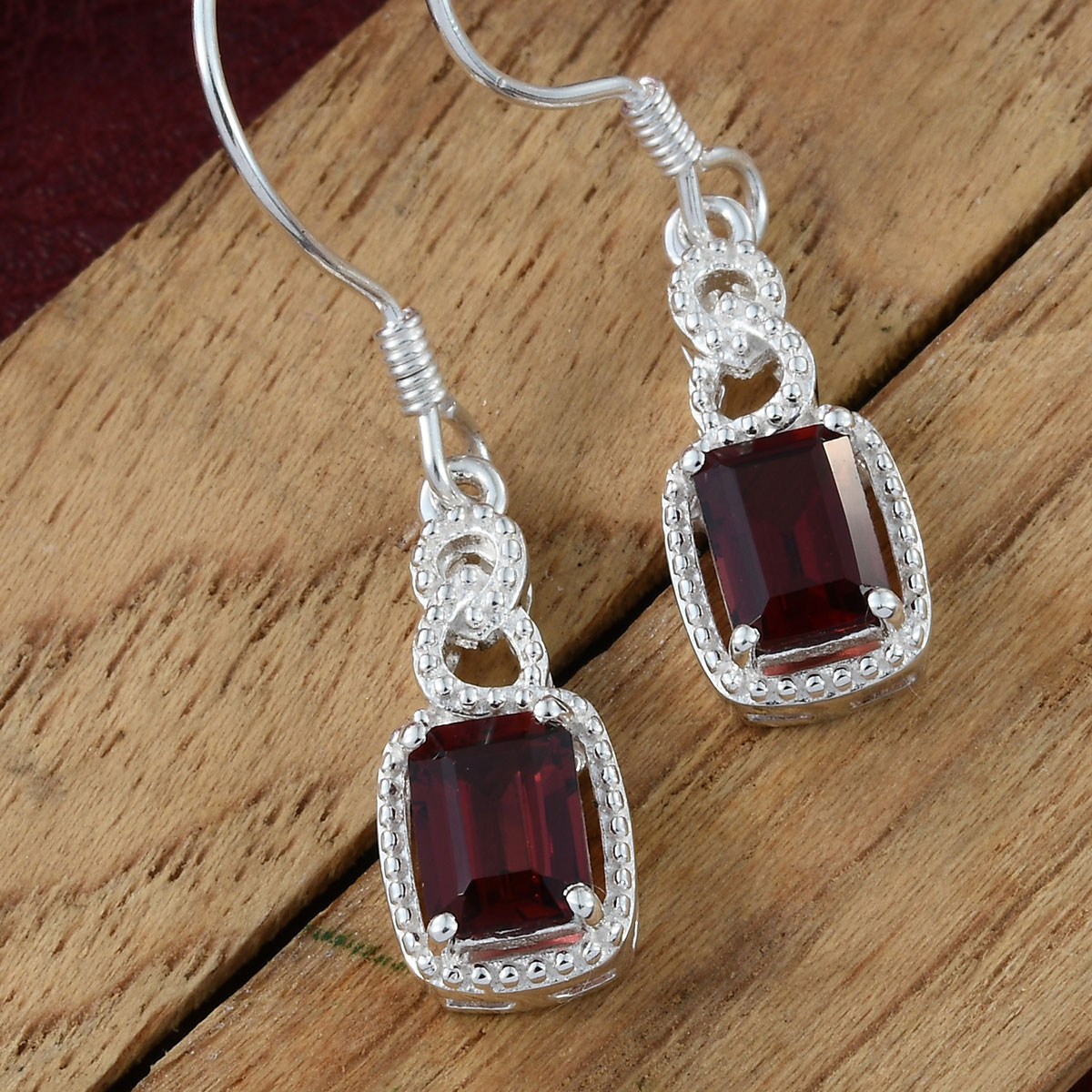 Amethyst-Garnet-Topaz-925-Sterling-Silver-Dangle-Drop-Earrings-for-Women-Jewelry thumbnail 28