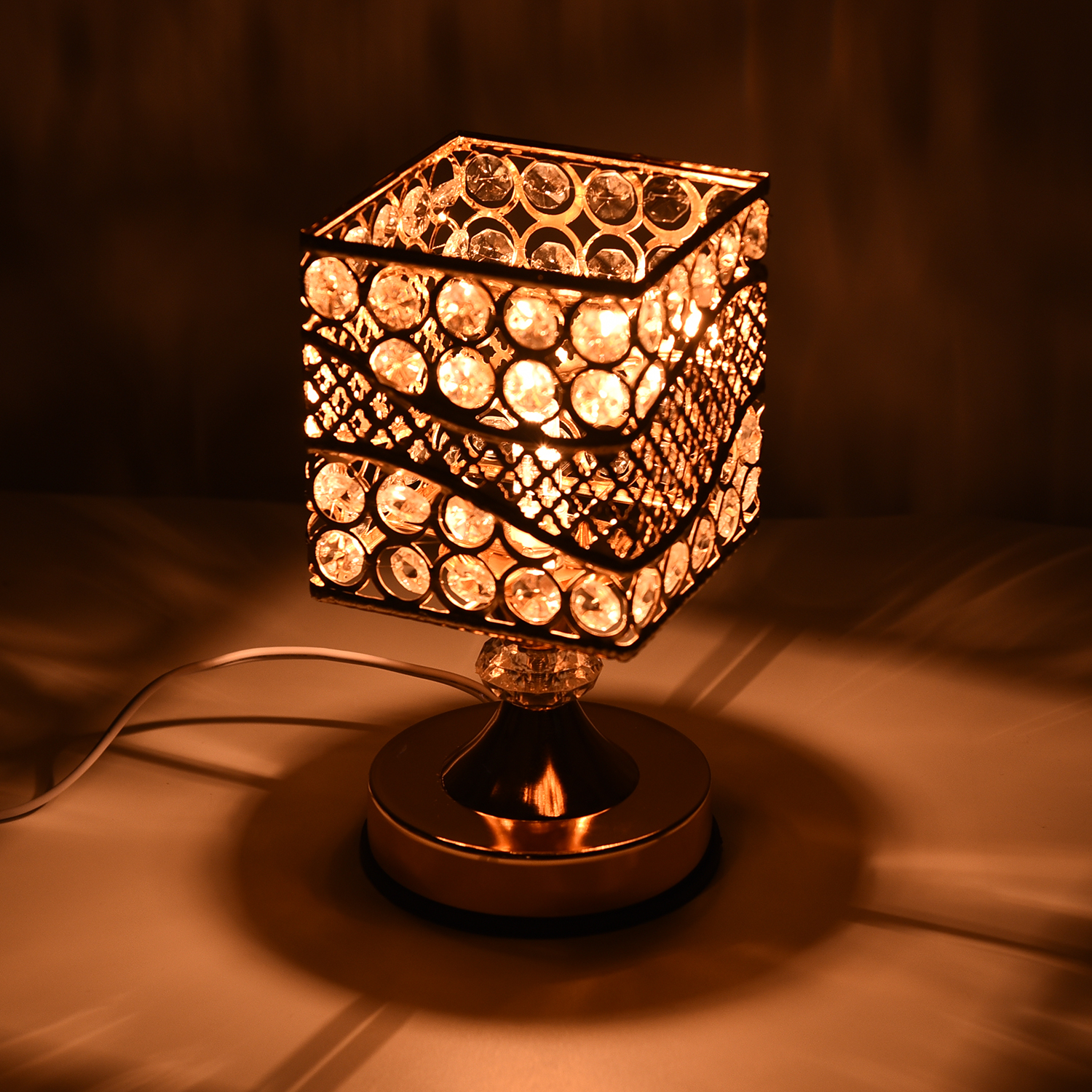 thumbnail 2 - Home Decor Gold Color Iron Design G Table Lamp with UL Plug Bulb G5 Included