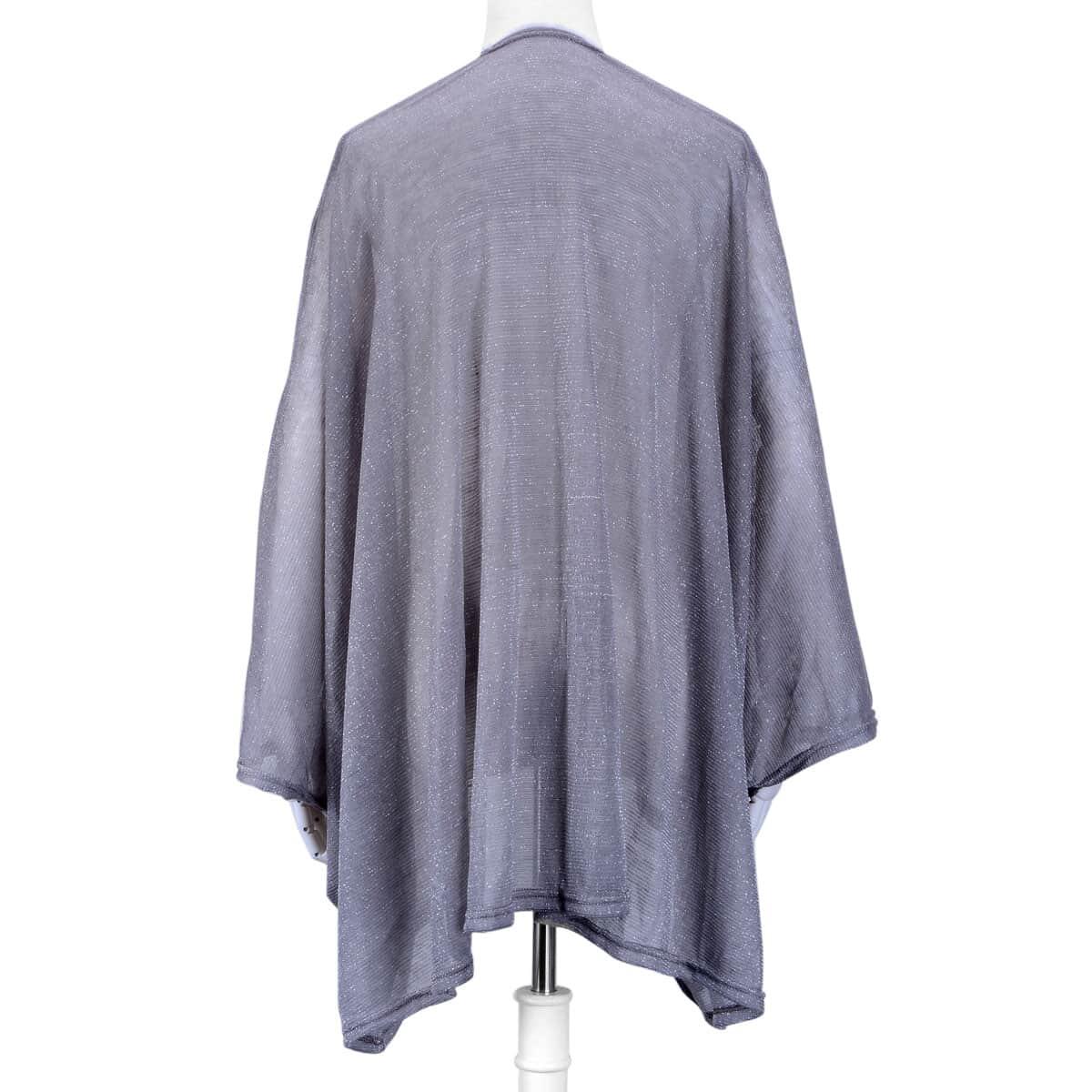 Gray 40% Acrylic, 40% Polyester and 20% Lurex Kimono
