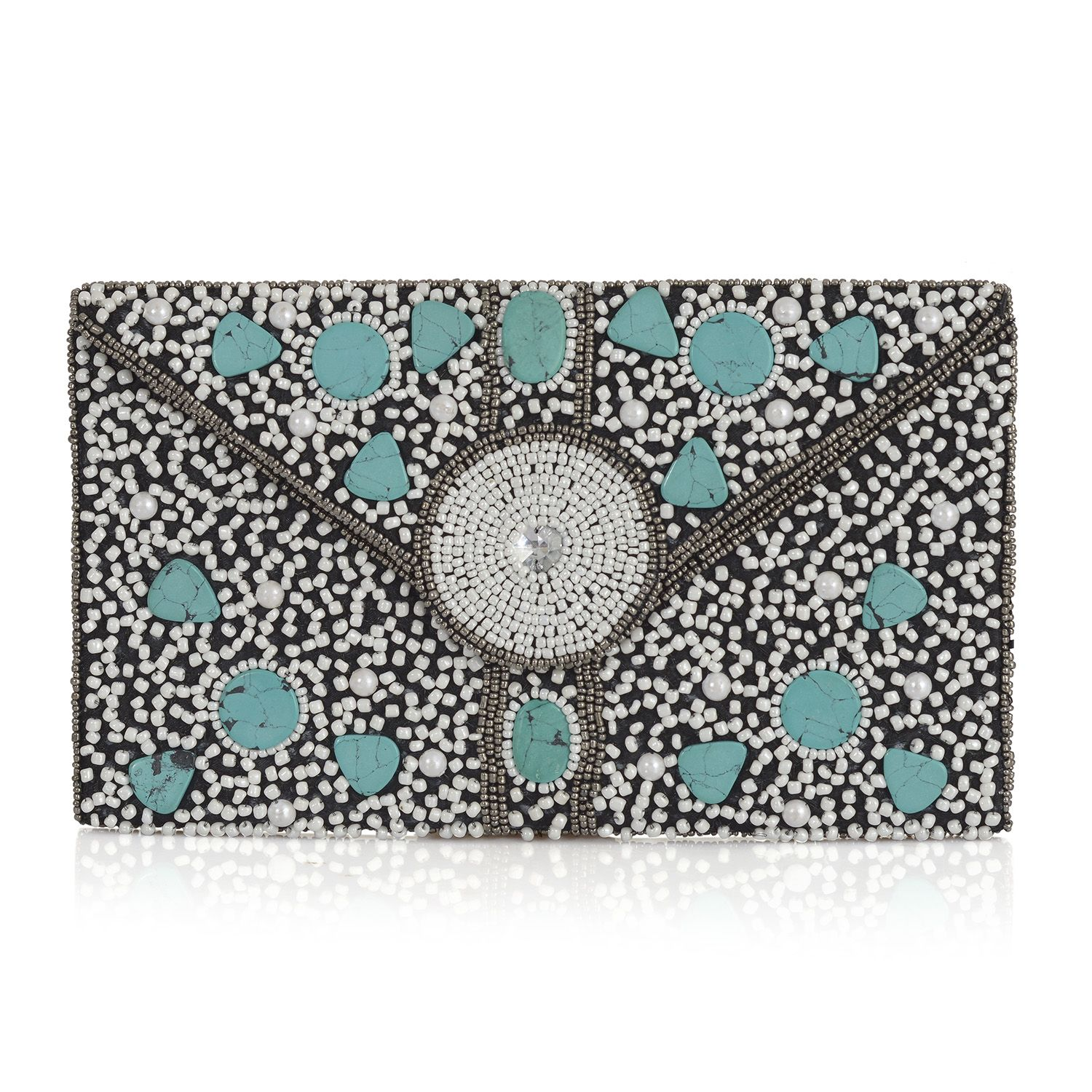 Blue Howlite Envelope Clutch (11x6 in)