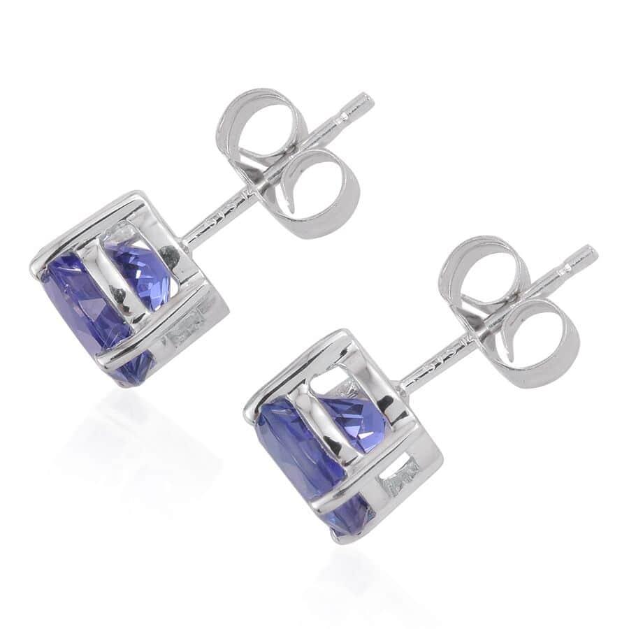 14K WG Tanzanite Stud Earrings TGW 2.340 Cts.