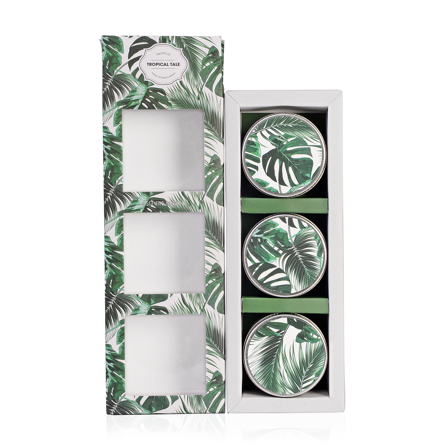 Tropical Tale- Set of 3 Hand Poured Scented Candles (3x2 in/ea)