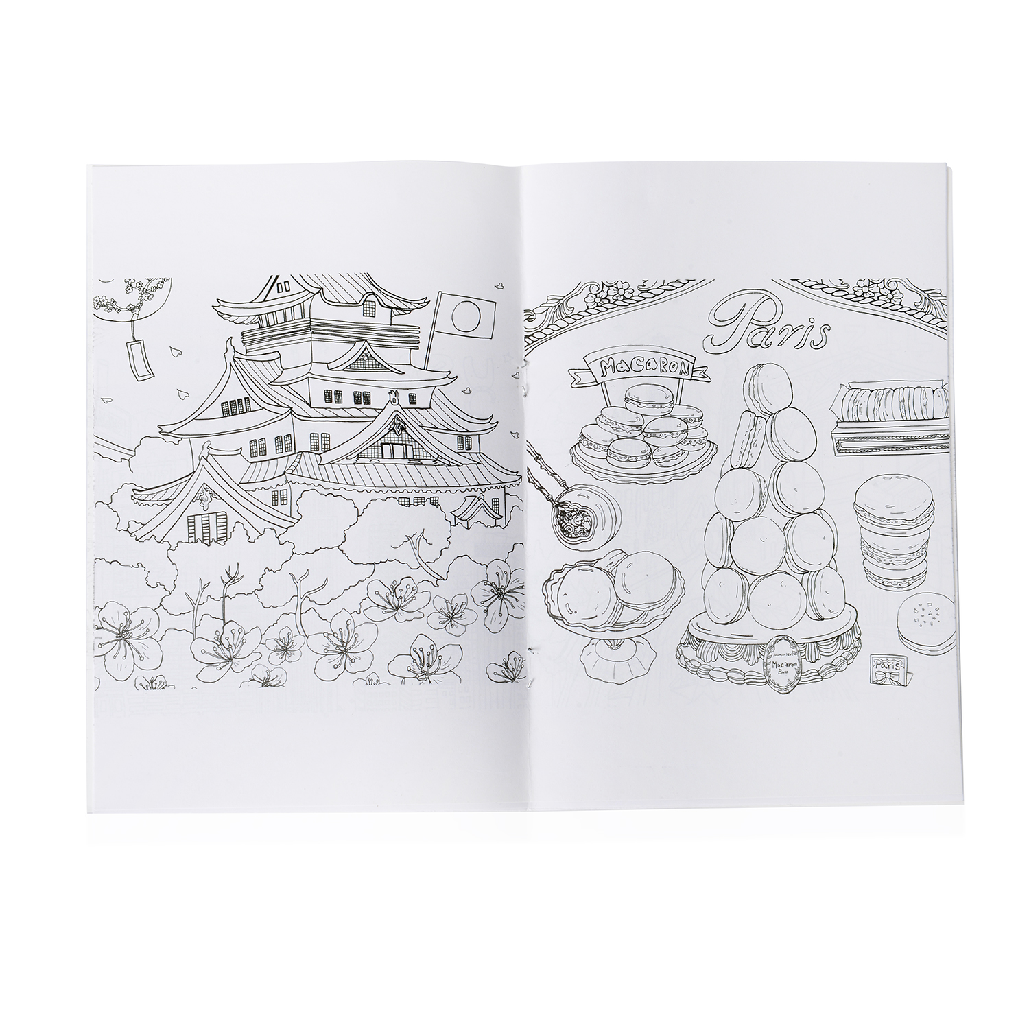 Set of 3 Mini World Experience Anti-Stress Coloring Books and ...