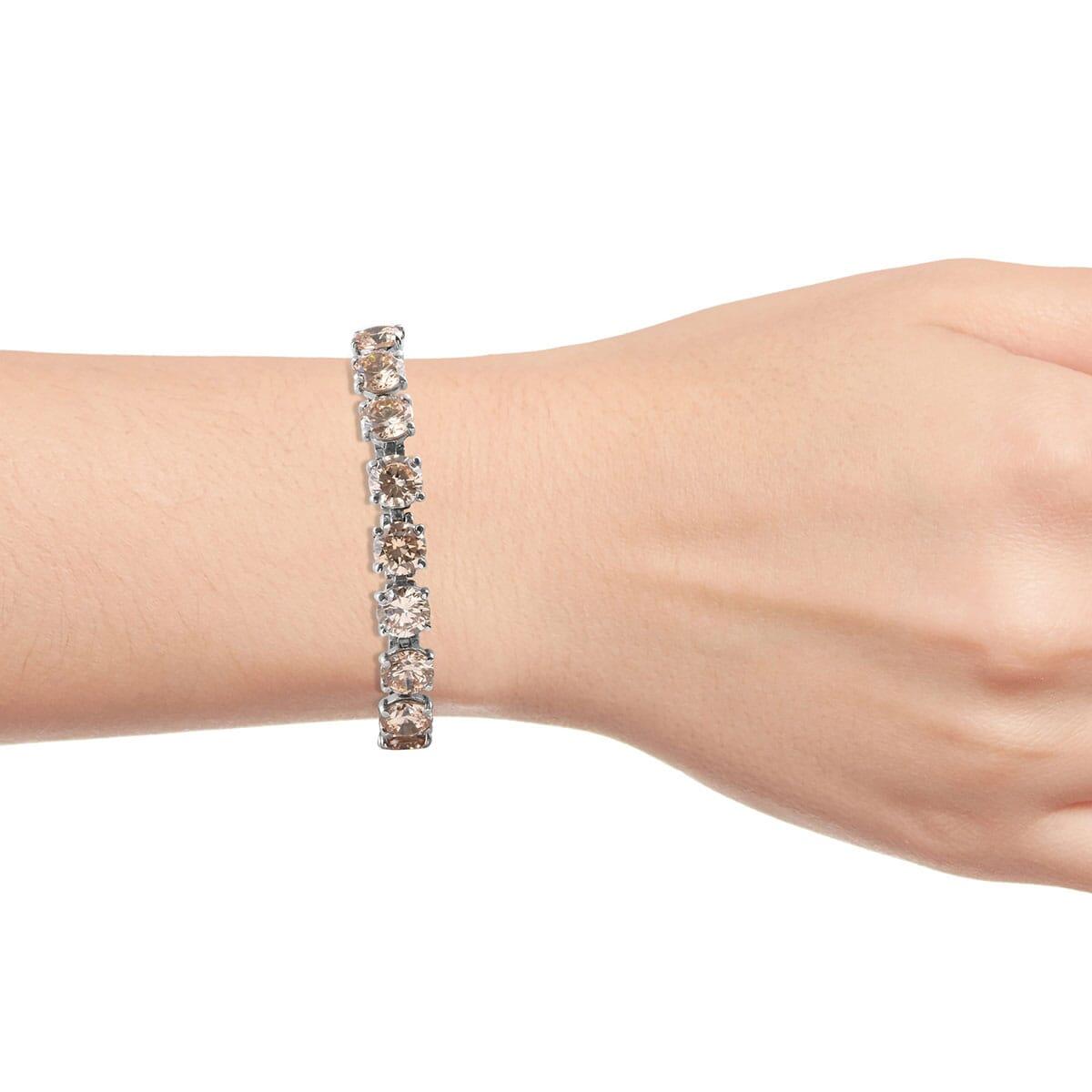 Steel-Cubic-Zirconia-CZ-Orange-Elegant-Adjustable-Bolo-Bracelet-for-Women-Ct-21 thumbnail 17