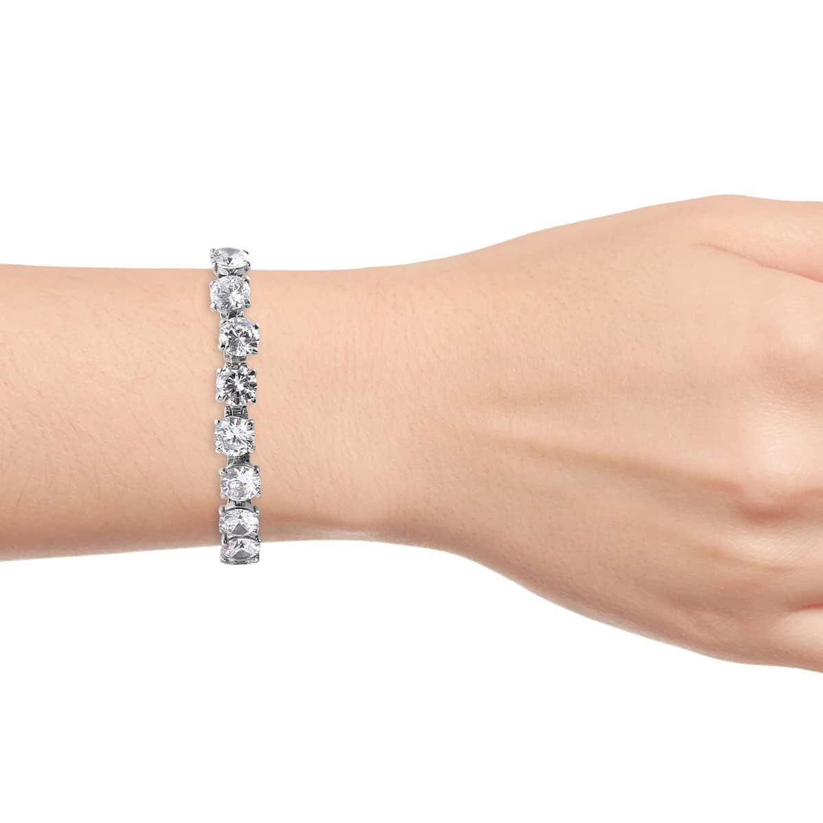 Steel-Cubic-Zirconia-CZ-Orange-Elegant-Adjustable-Bolo-Bracelet-for-Women-Ct-21 thumbnail 31