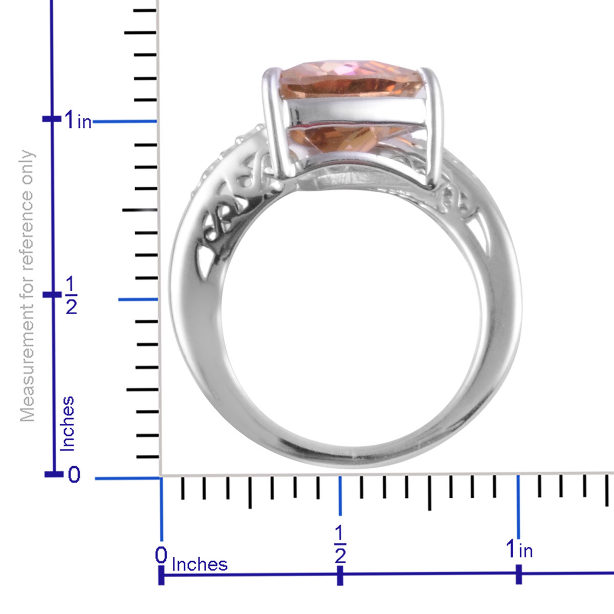 Northern Lights Twilight Topaz, White Zircon Ring in Sterling Silver (Size 7.0) 3.83 ctw