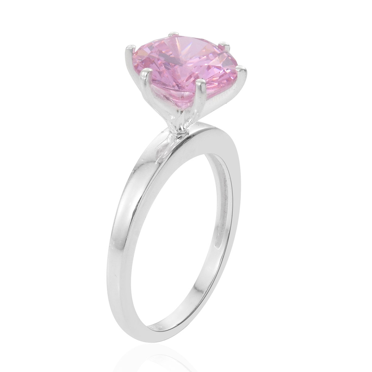 Multi Color CZ Interchangeable Solitaire Ring in Sterling Silver (Size 9.0) 14.25 ctw