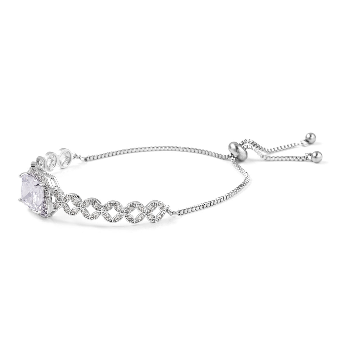 12-Color-Options-Cubic-Zirconia-Bracelet-Chain-Pendant-Necklace-Set-Adjustable thumbnail 99