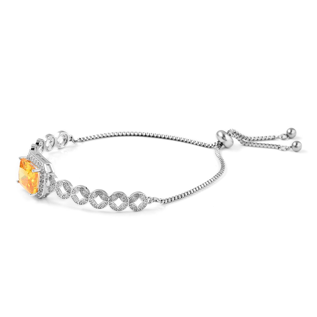 12-Color-Options-Cubic-Zirconia-Bracelet-Chain-Pendant-Necklace-Set-Adjustable thumbnail 108
