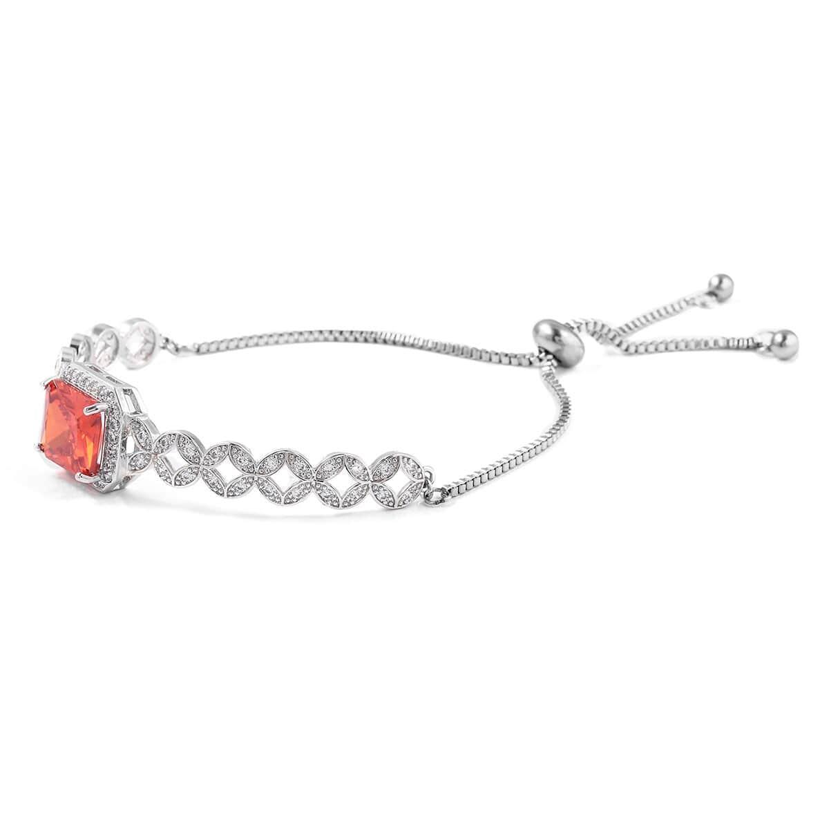 12-Color-Options-Cubic-Zirconia-Bracelet-Chain-Pendant-Necklace-Set-Adjustable thumbnail 55