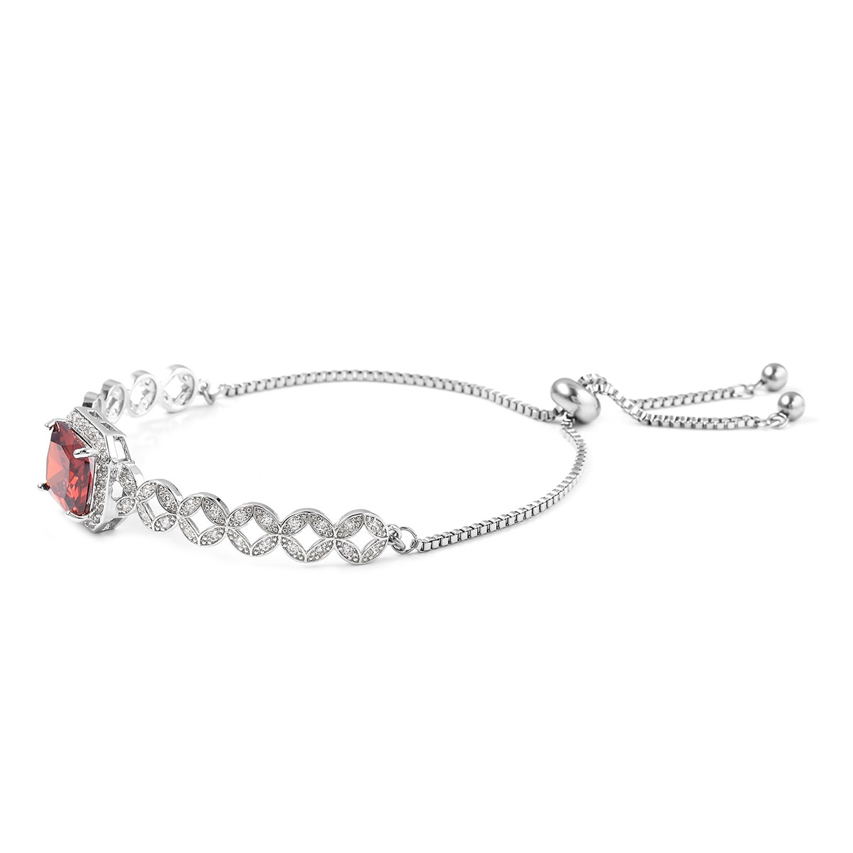 12-Color-Options-Cubic-Zirconia-Bracelet-Chain-Pendant-Necklace-Set-Adjustable thumbnail 82