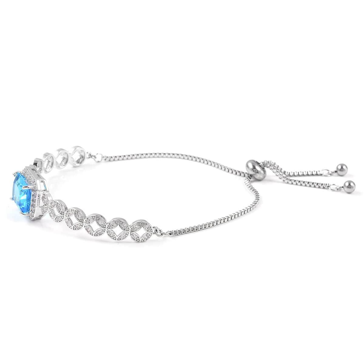12-Color-Options-Cubic-Zirconia-Bracelet-Chain-Pendant-Necklace-Set-Adjustable thumbnail 91
