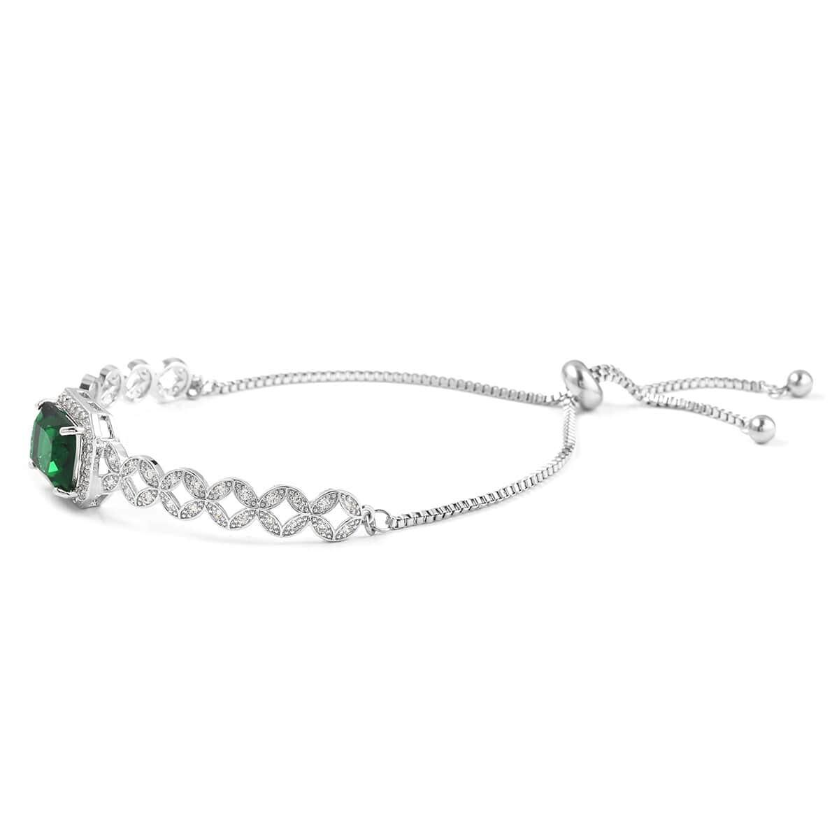12-Color-Options-Cubic-Zirconia-Bracelet-Chain-Pendant-Necklace-Set-Adjustable thumbnail 30