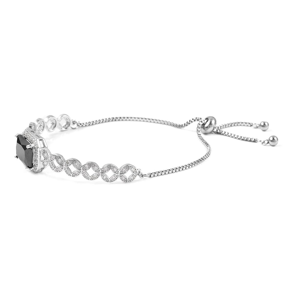 12-Color-Options-Cubic-Zirconia-Bracelet-Chain-Pendant-Necklace-Set-Adjustable thumbnail 12