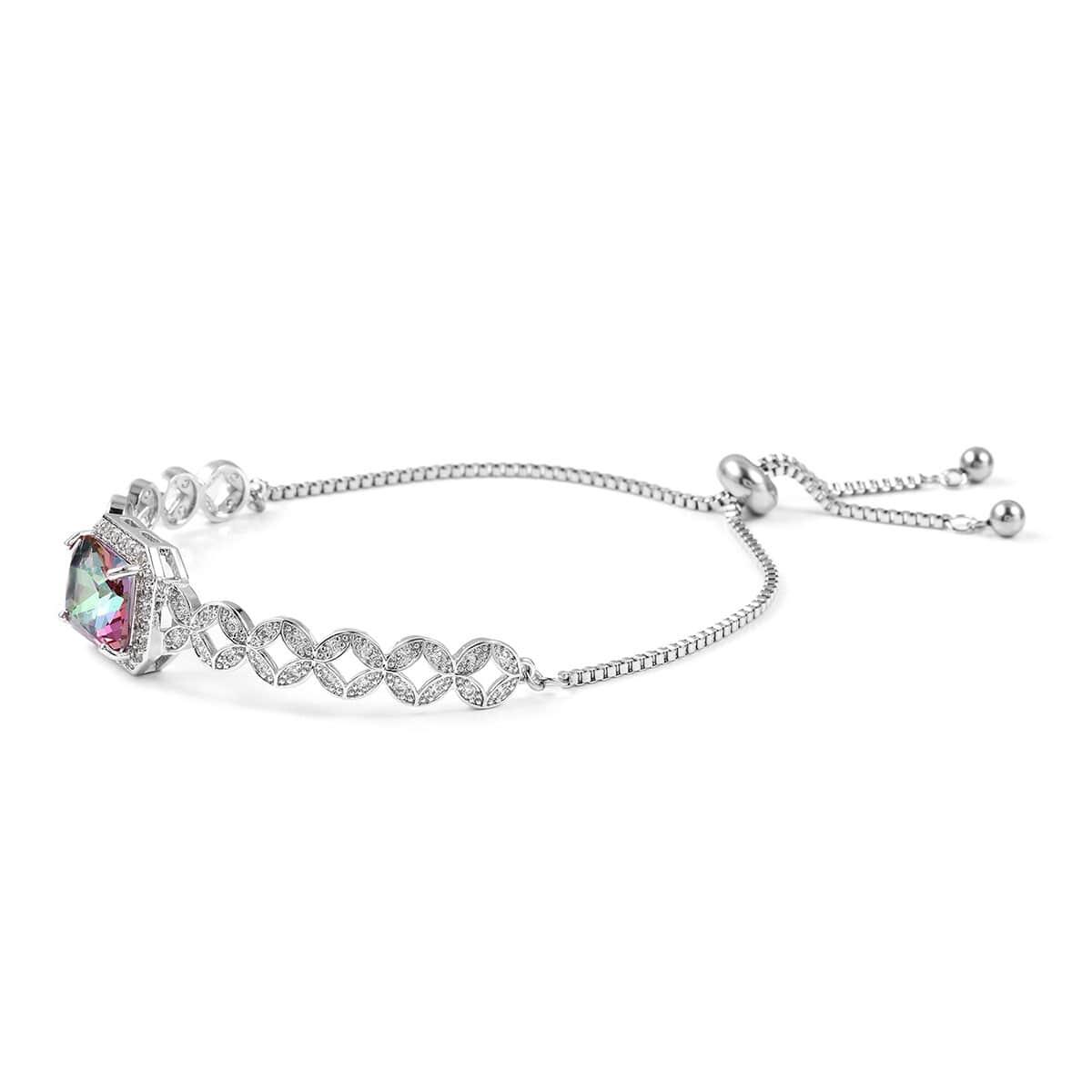 12-Color-Options-Cubic-Zirconia-Bracelet-Chain-Pendant-Necklace-Set-Adjustable thumbnail 39