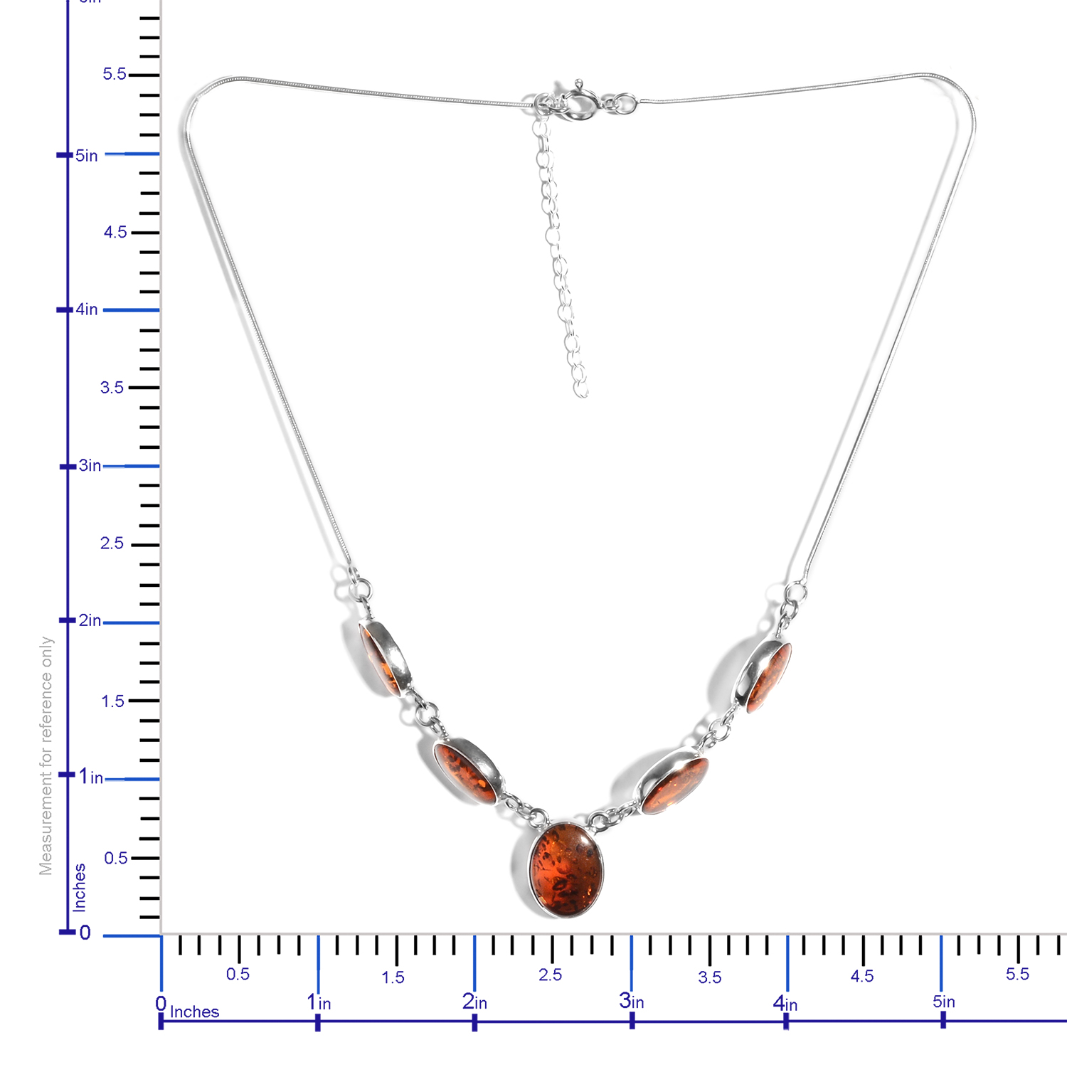 Artisan Crafted Baltic Amber Drop Necklace (16-18 in) in Sterling Silver