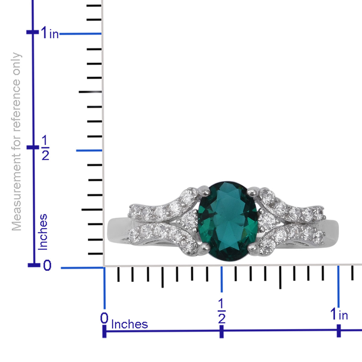 Aqua CZ, CZ Ring in Sterling Silver (Size 6.0) 1.98 ctw