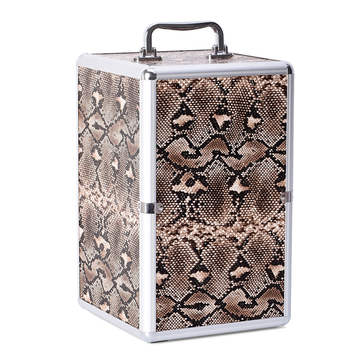 Super Organizer Brown Snake Embossed Faux Leather 5 Drawer ...