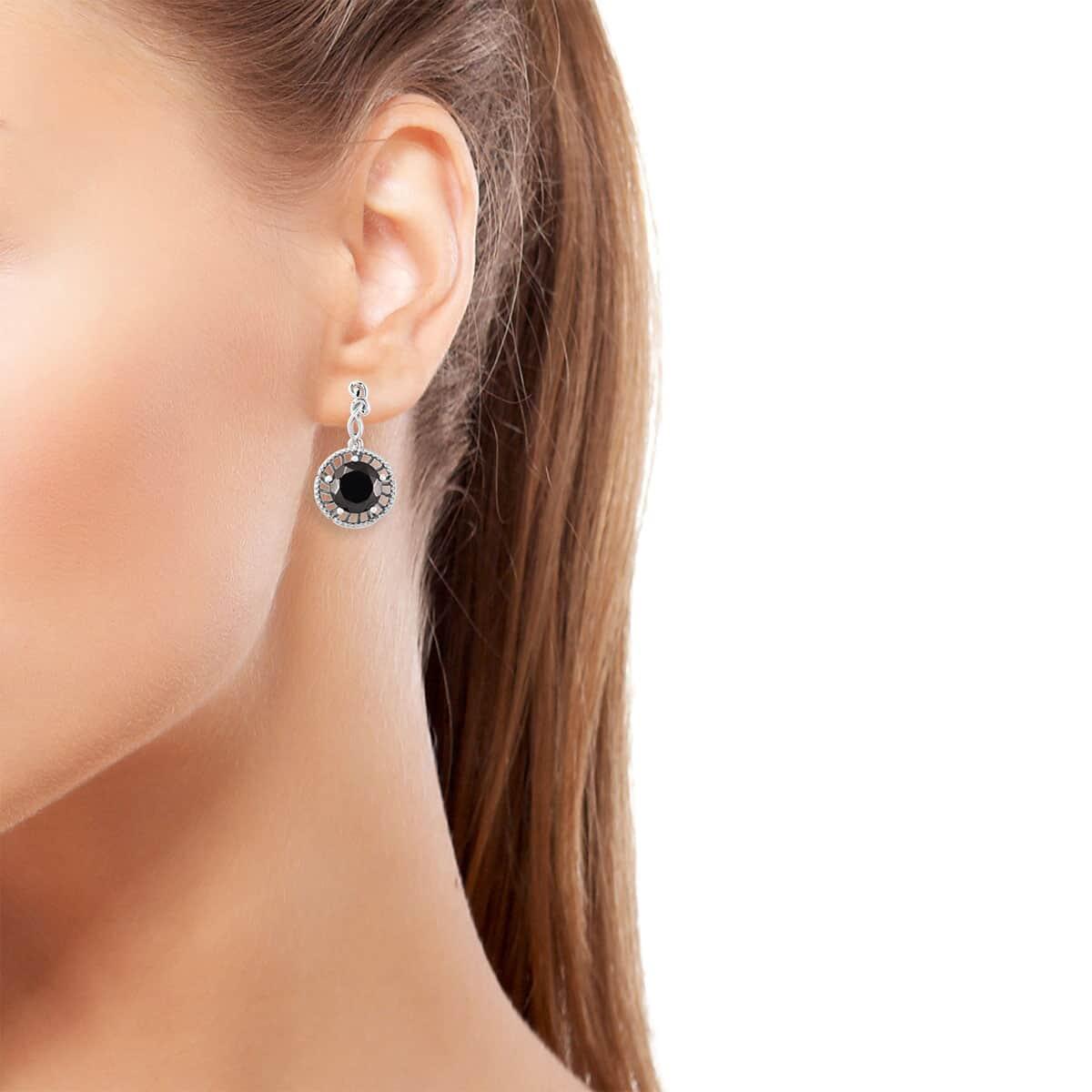 Shungite Earrings in Platinum Over Sterling Silver 3.50 ctw