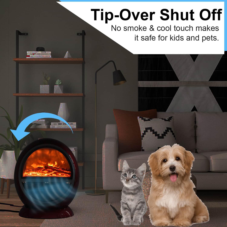 Red PTC Fireplace Room Heater Voltage -110v-120v 1200W