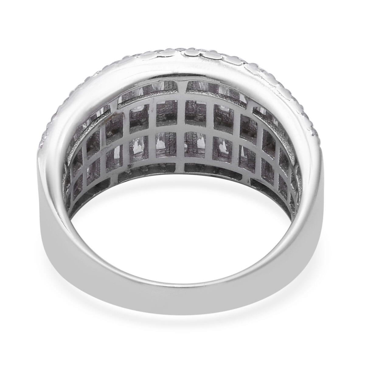 LUSTRO STELLA CZ Ring in Sterling Silver (Size 6.0) (Avg. 7.05 g) 3.73 ctw