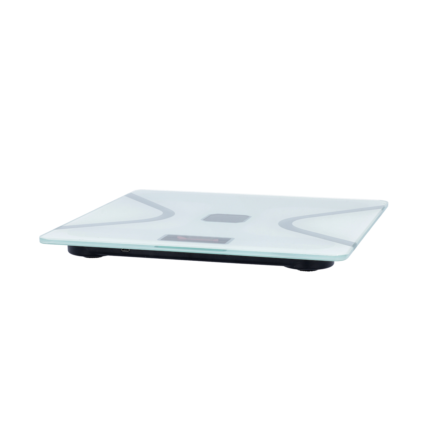 White Bluetooth Solar Body Scale Weight Machine USB Solar Charging Function