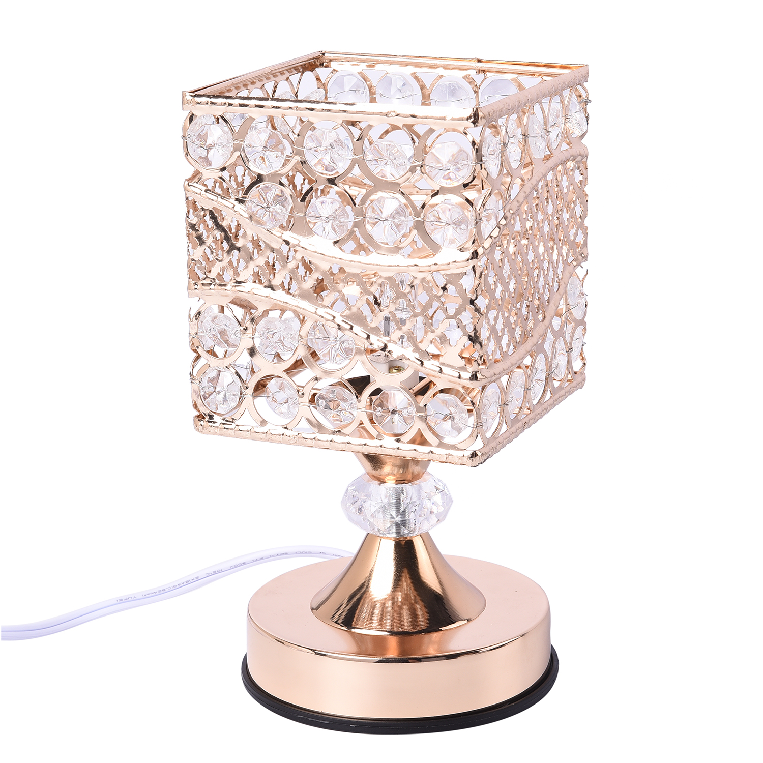 thumbnail 3 - Home Decor Gold Color Iron Design G Table Lamp with UL Plug Bulb G5 Included