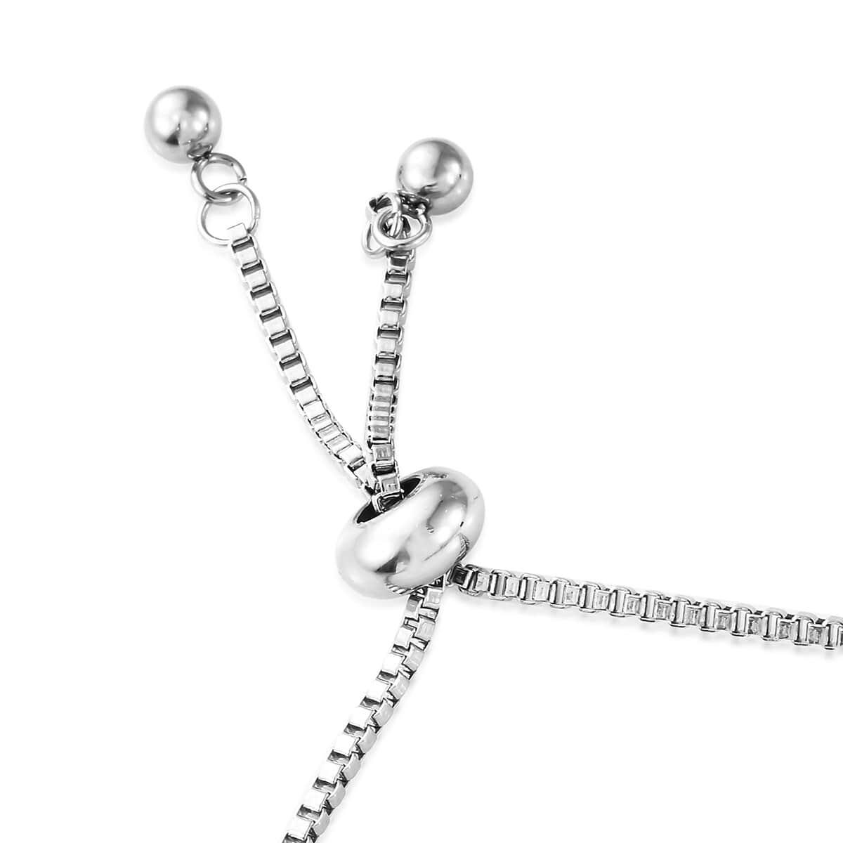 Steel-Cubic-Zirconia-CZ-Orange-Elegant-Adjustable-Bolo-Bracelet-for-Women-Ct-21 thumbnail 32