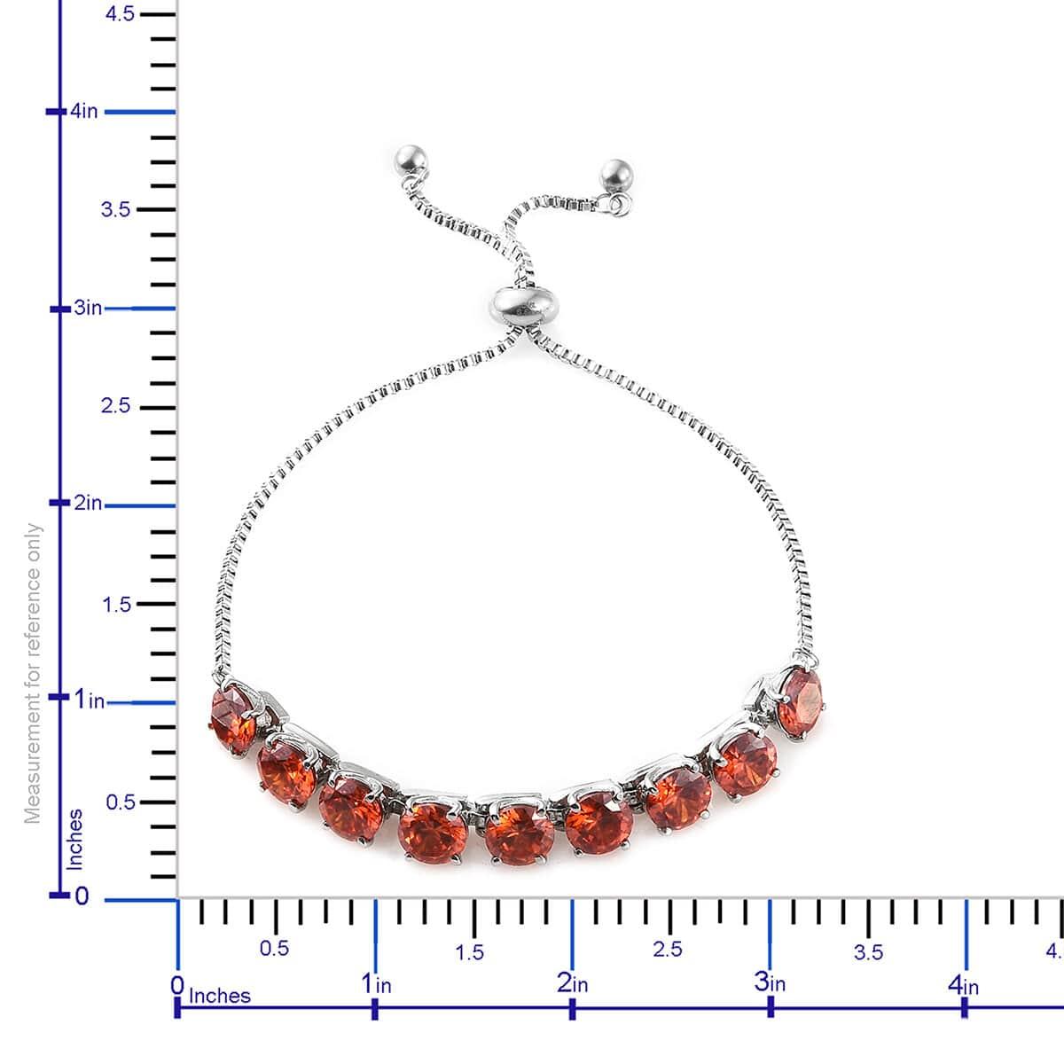 Steel-Cubic-Zirconia-CZ-Orange-Elegant-Adjustable-Bolo-Bracelet-for-Women-Ct-21 thumbnail 11