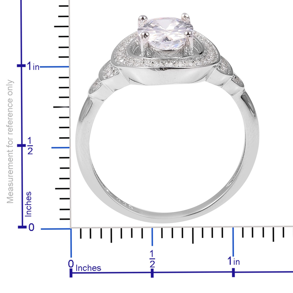 White CZ Ring in Sterling Silver (Size 10.0) 2.67 ctw