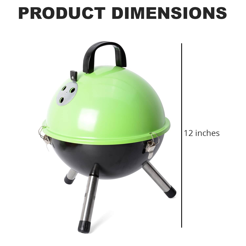 thumbnail 28 - Outdoor Backyard Cooking Mini Portable Charcoal BBQ Grill Bottom Storage