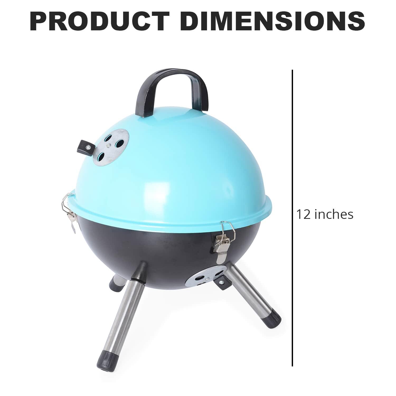 thumbnail 16 - Outdoor Backyard Cooking Mini Portable Charcoal BBQ Grill Bottom Storage