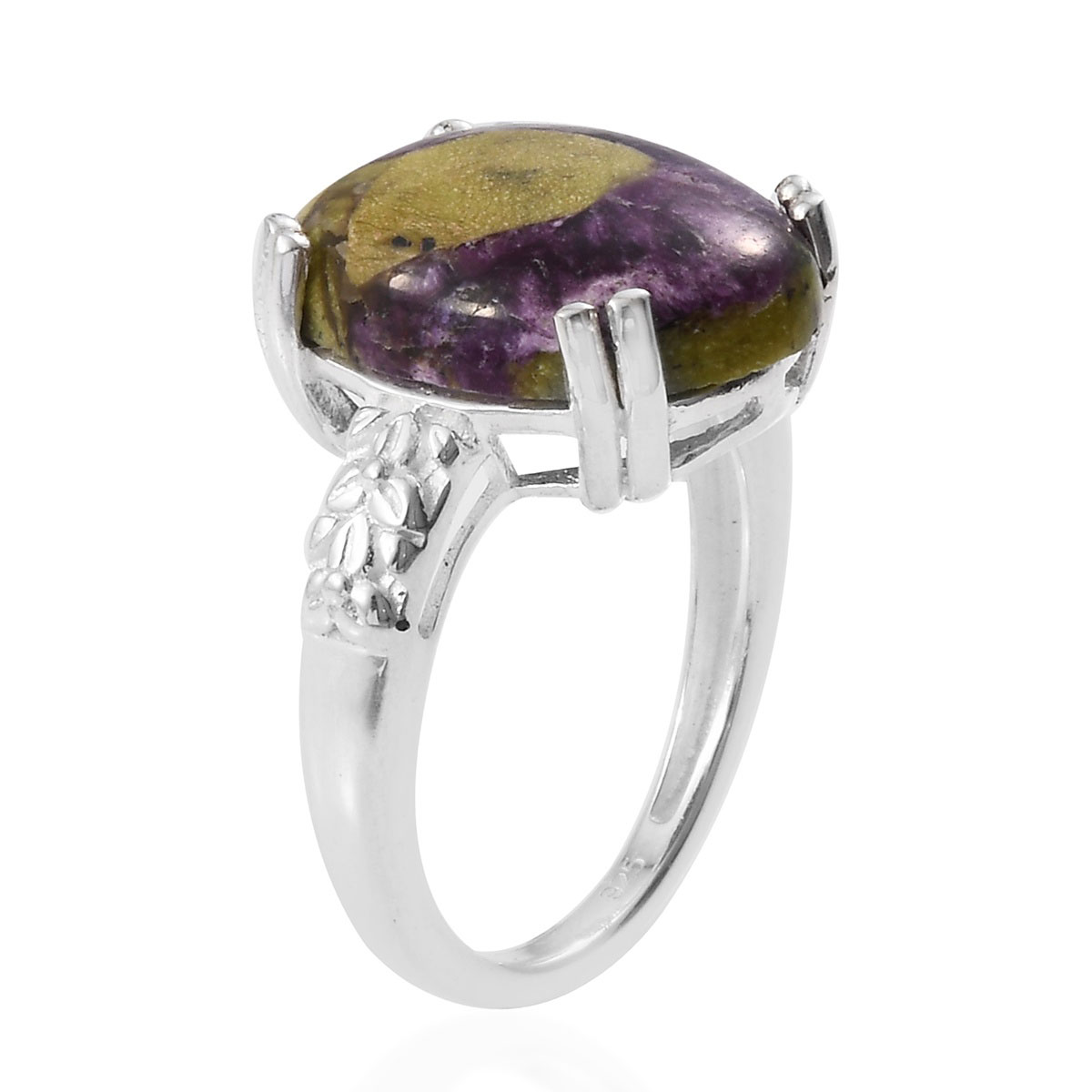Tasmanian Stichtite Ring in Sterling Silver (Size 10.0) 6.00 ctw