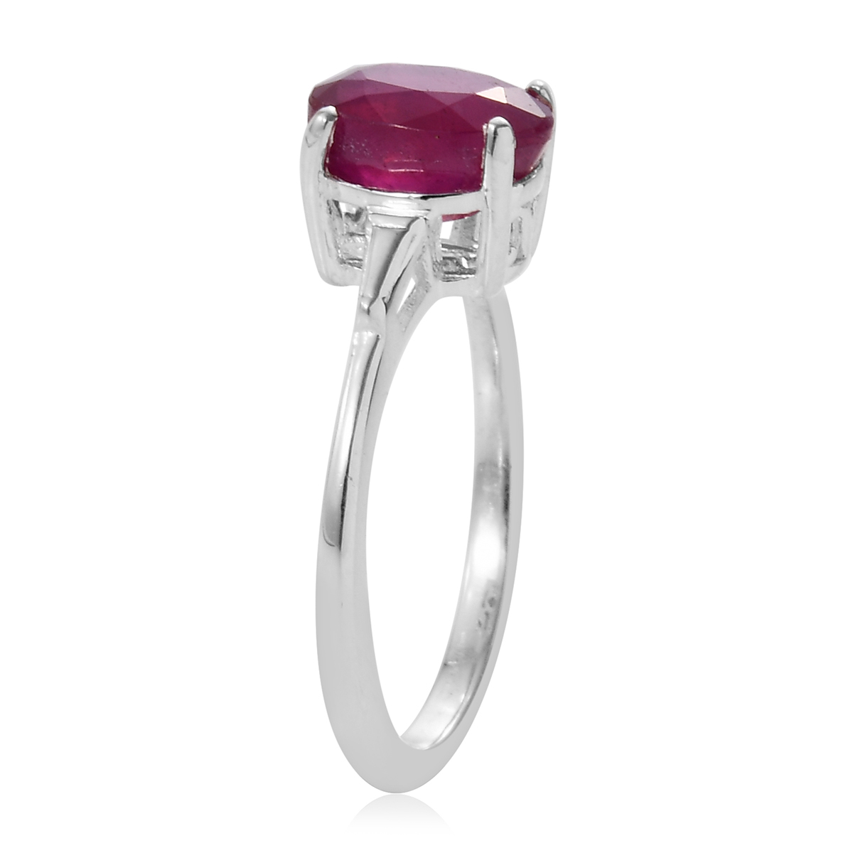 Niassa Ruby Ring in Sterling Silver (Size 9.0) 1.50 ctw