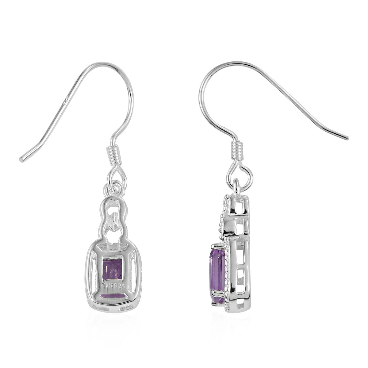 Amethyst-Garnet-Topaz-925-Sterling-Silver-Dangle-Drop-Earrings-for-Women-Jewelry thumbnail 21
