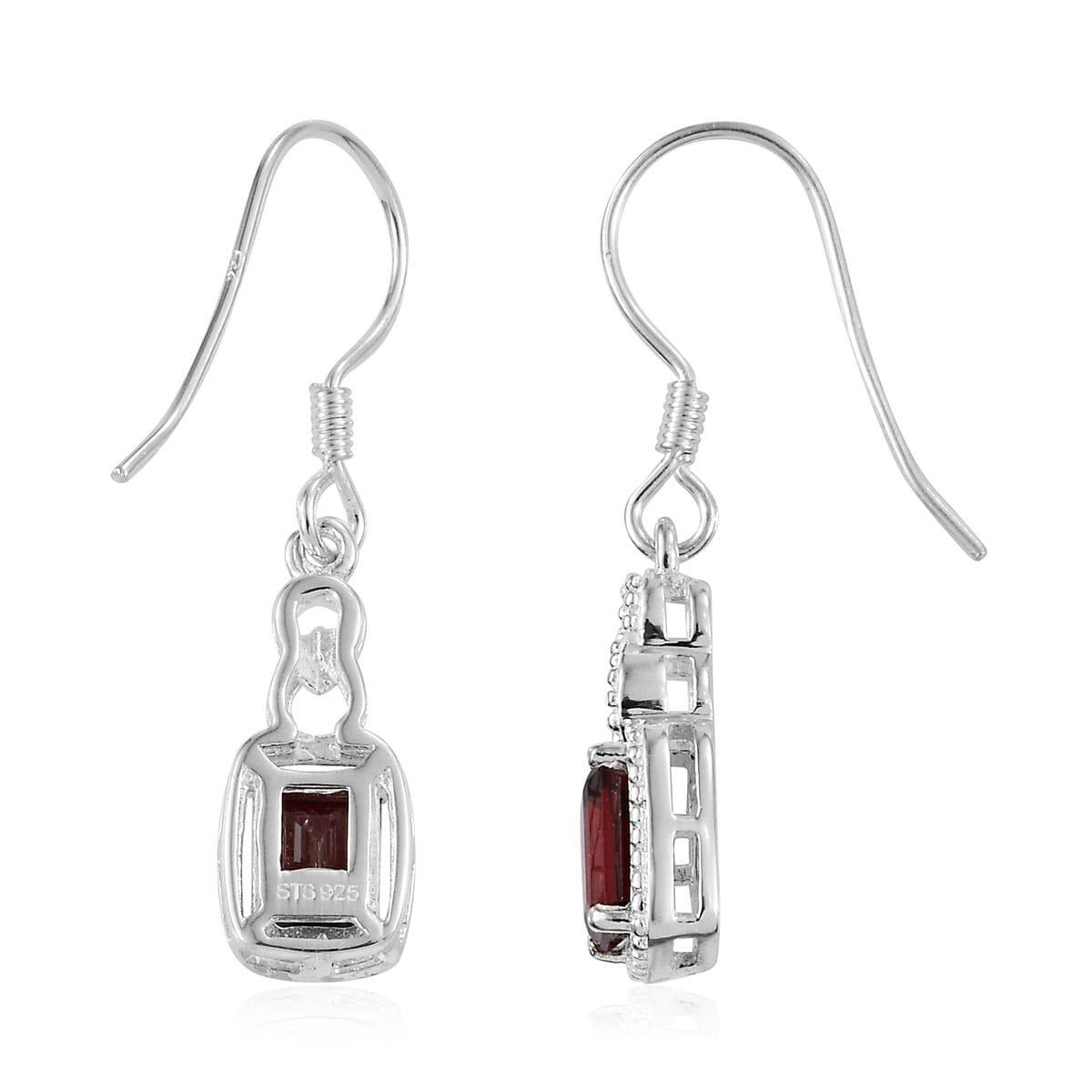 Amethyst-Garnet-Topaz-925-Sterling-Silver-Dangle-Drop-Earrings-for-Women-Jewelry thumbnail 30