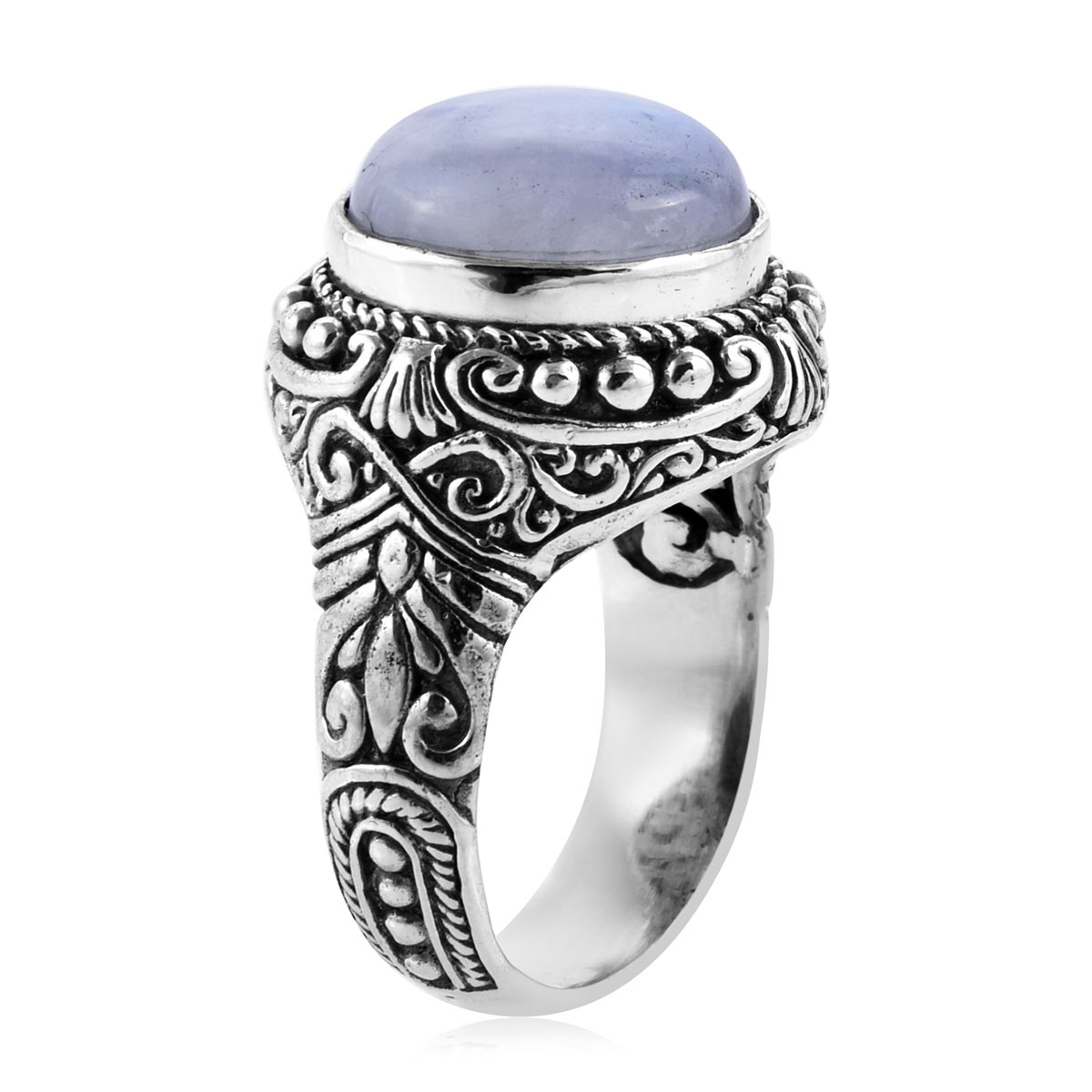 Bali Legacy Rainbow Moonstone Ring in Sterling Silver (Size 9.0) 8.76 ctw