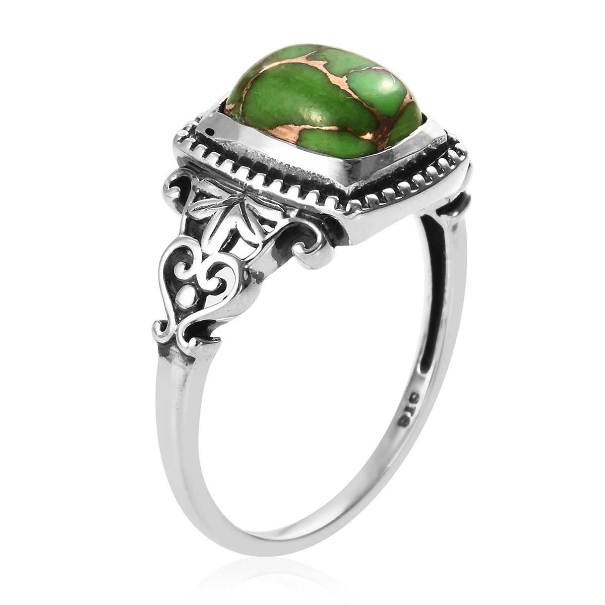 Mojave Green Turquoise Ring in Sterling Silver (Size 10.0) 3.85 ctw