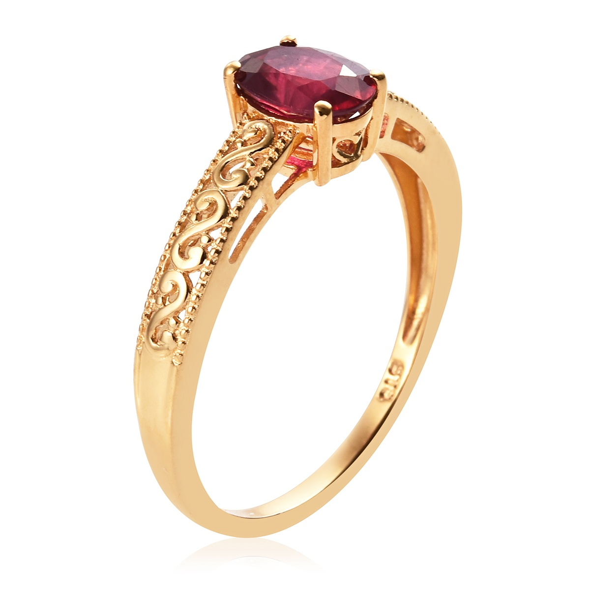 Niassa Ruby Ring in Vermeil YG Over Sterling Silver (Size 7.0) 1.80 ctw