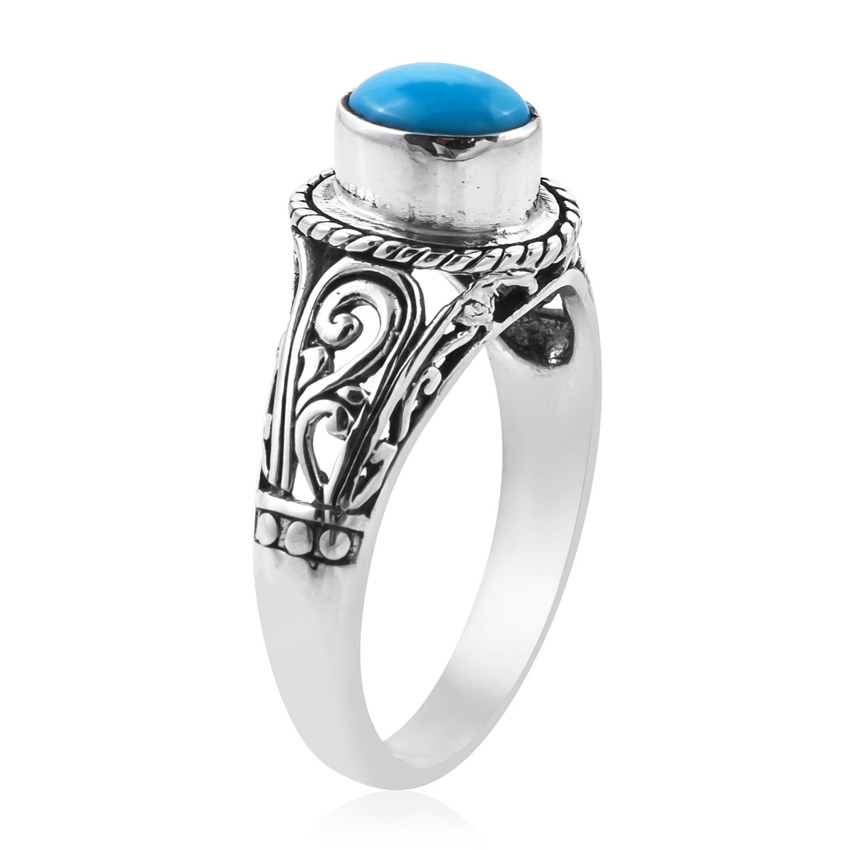BALI LEGACY Arizona Sleeping Beauty Turquoise Ring in Sterling Silver (Size 7.0) 1.11 ctw