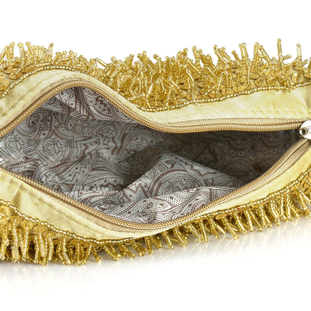 J Francis - Golden Embroidered Handbag