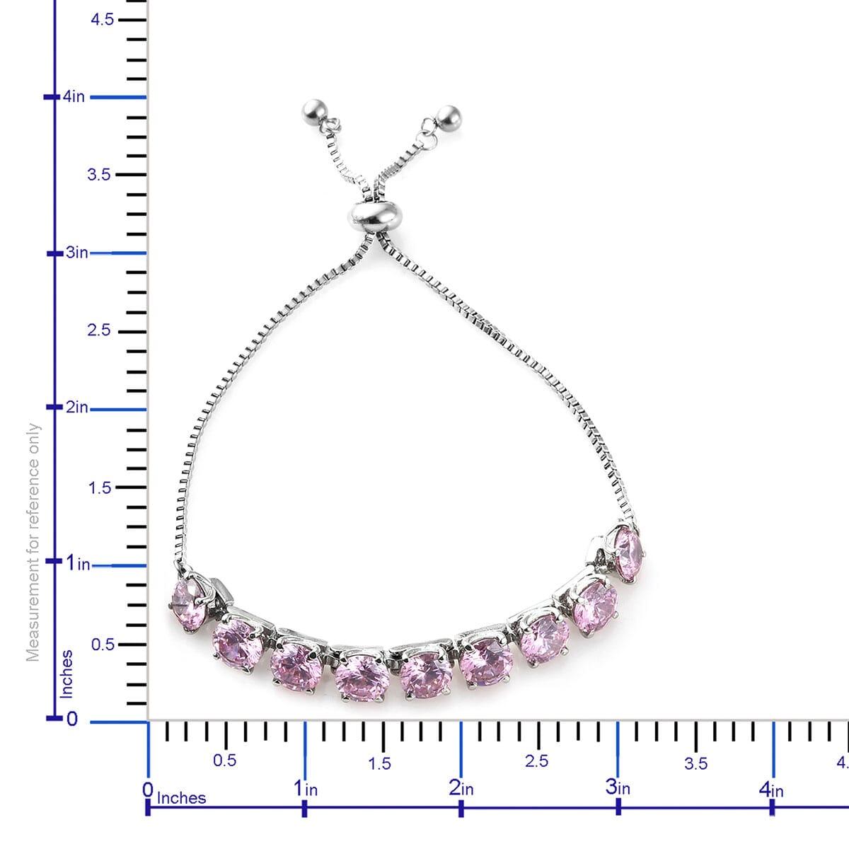Steel-Cubic-Zirconia-CZ-Orange-Elegant-Adjustable-Bolo-Bracelet-for-Women-Ct-21 thumbnail 25