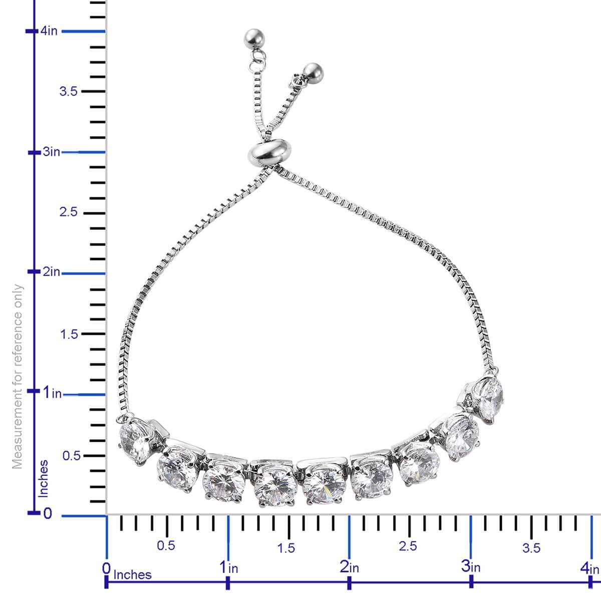 Steel-Cubic-Zirconia-CZ-Orange-Elegant-Adjustable-Bolo-Bracelet-for-Women-Ct-21 thumbnail 33