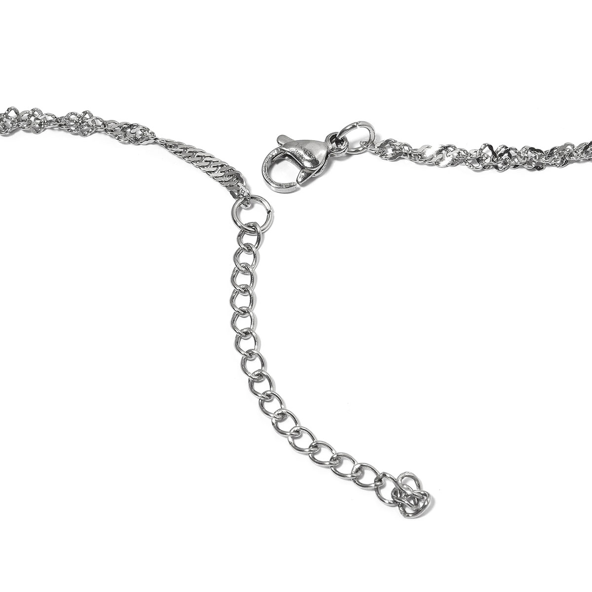Set of 2 ION Plated YG and Stainless Steel Singapore and Heart Necklace  (24-26 in)