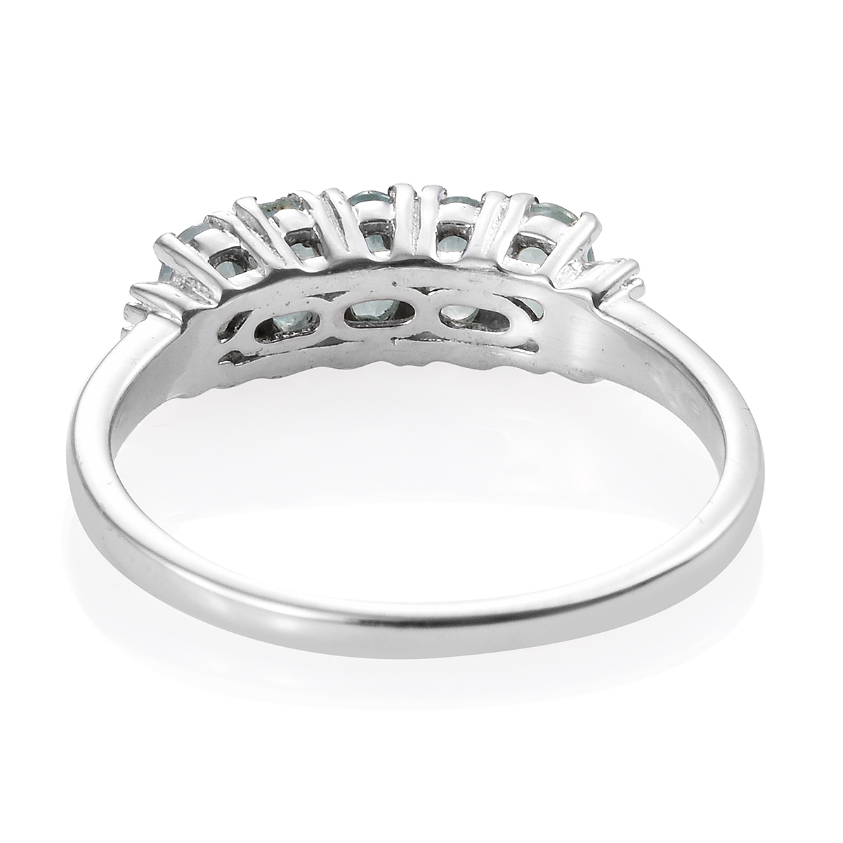 Grandidierite, Diamond Accent Ring in Platinum Over Sterling Silver (Size 8.0) 1.21 ctw